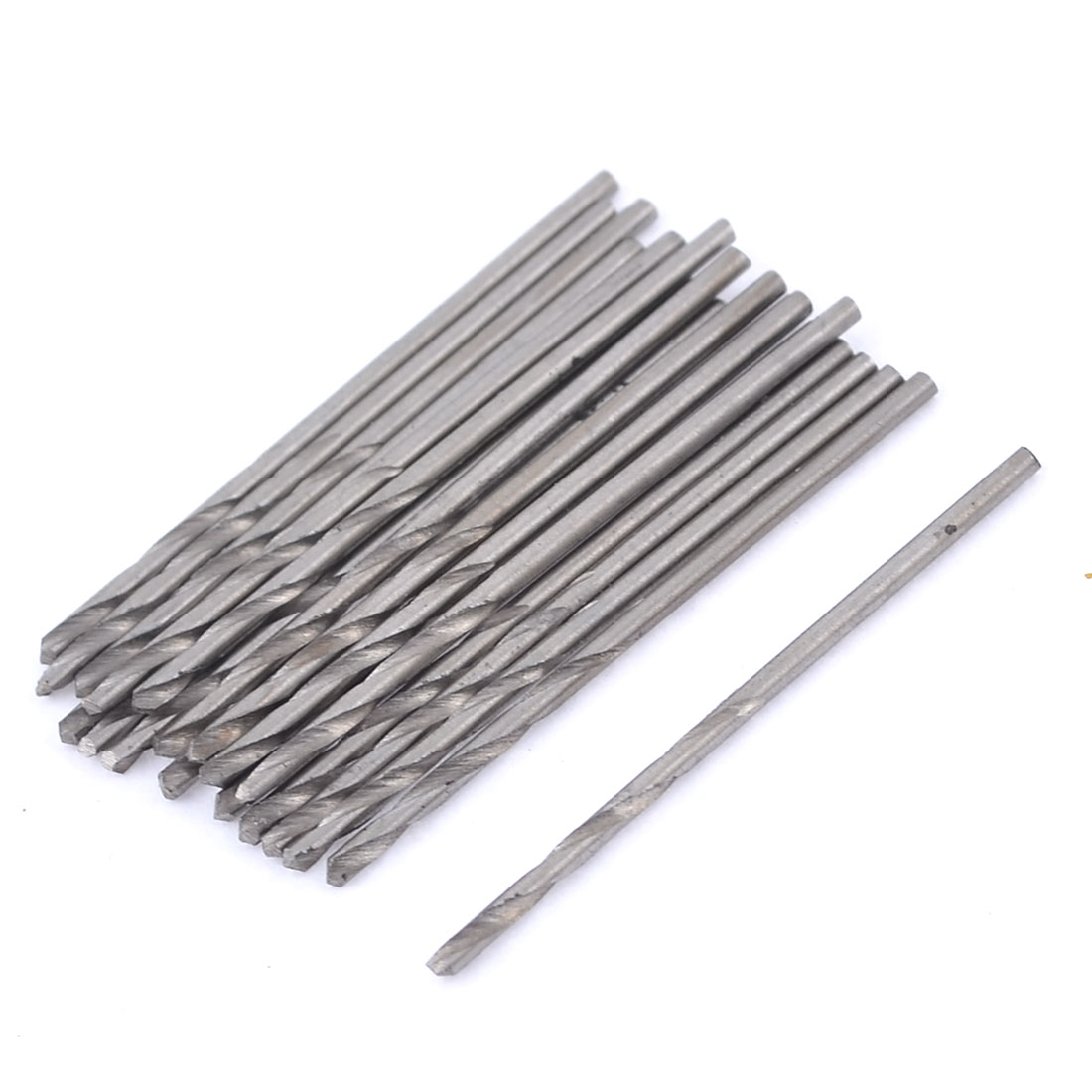 20 Pcs HSS Straight Shank 0.9mm Cutting Diameter Twist Drilling Bit for Electric Drill