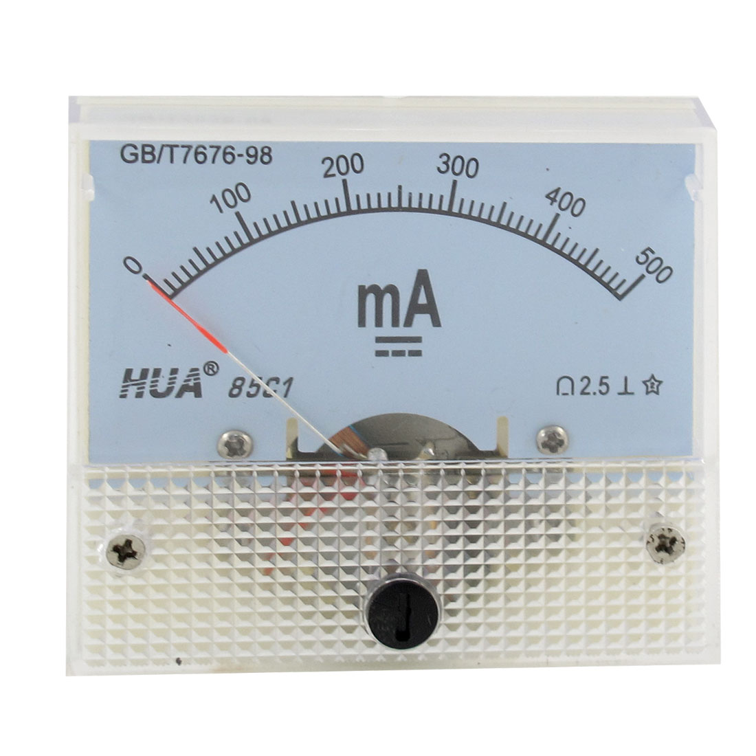 85C1 Rectangle Shaped 0-500mA Analog Panel Ammeter Gauge