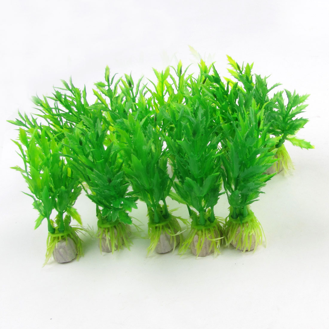 "10 Pcs Green Emulational Fish Tank Aquarium Grass Decor 3.5"" Height"