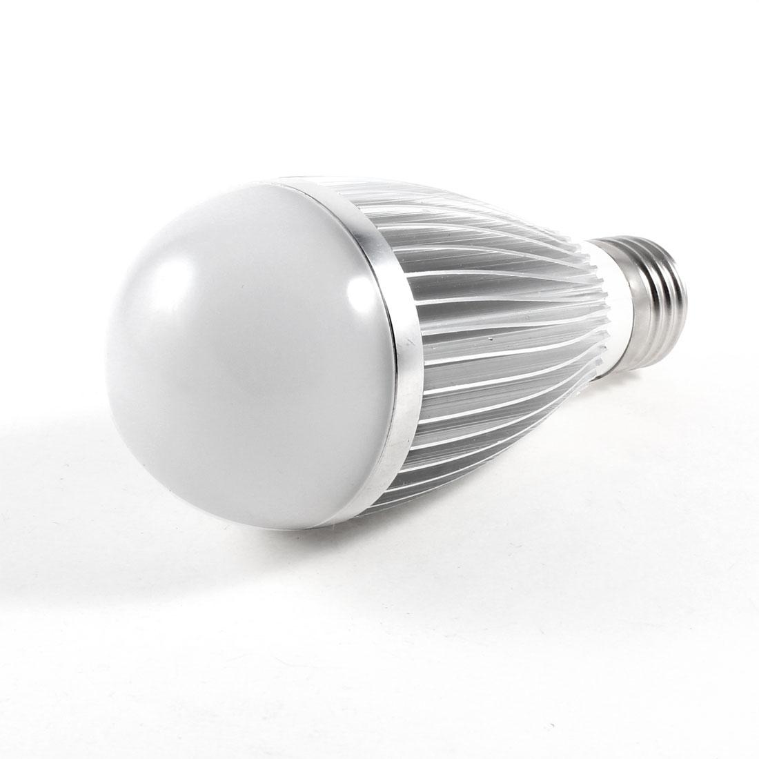 E27 Screw Base Energy Saving White LED Ball Bulb Lamp Light AC 220V 7W