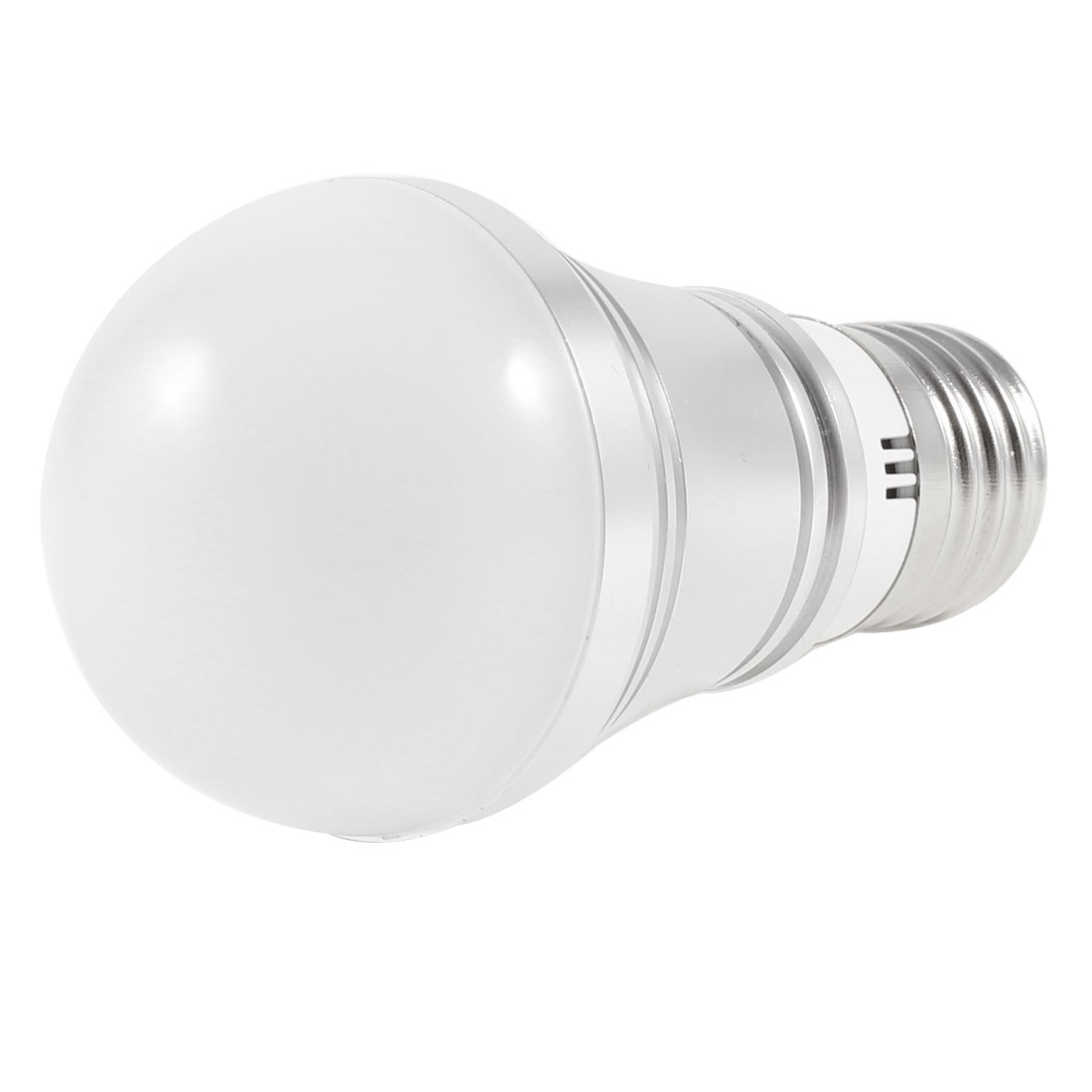 Silver Tone E27 Socket Warm White LED Light Globe Ball Bulb 3W AC 220V