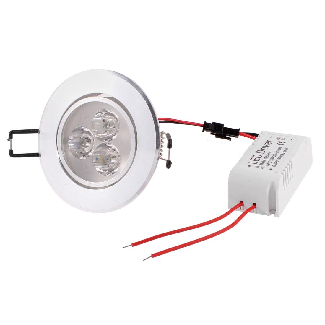 Indoor Warm White 3 LEDs Light Recessed Ceiling Down Lamp Bulb 180V-250V 3W