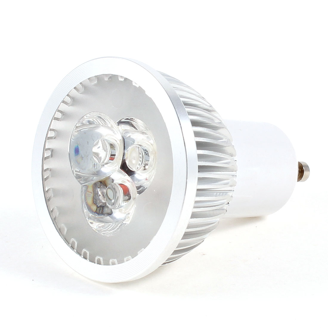 220VAC 3W 3 LED White Light Lamp Energy Saving GU10 Spotlight Bulb
