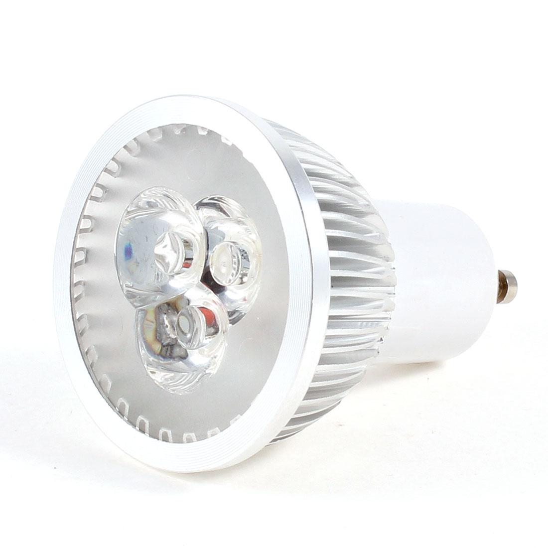 220VAC 3W 3 LED White Light Lamp Energy Saving GU10 Spotlight Bulb