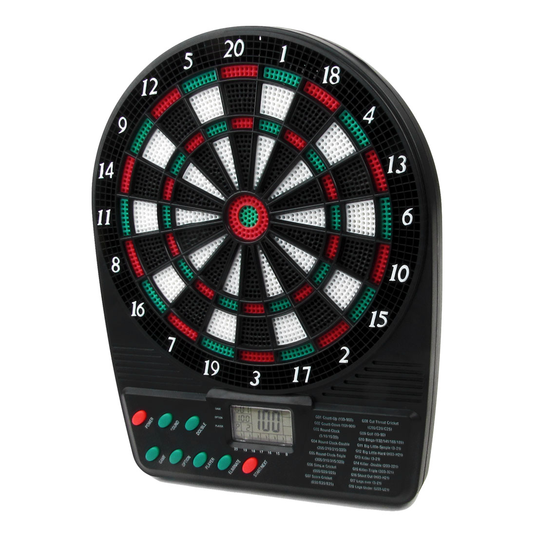 Blue LCD Screen Colorful Plastic Electronic Dartboard Dart Toy w Holder
