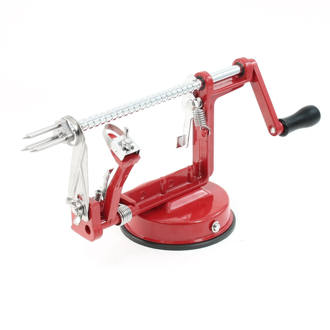 Stainless Steel Red Apple Pear Fruit Potato Peeler Corer Slicer Kitchen Tool