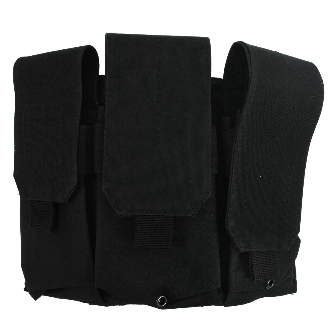 Black Canvas Hook Loop Fastener Pockets Tactical Cartridge Belt Holder Bag