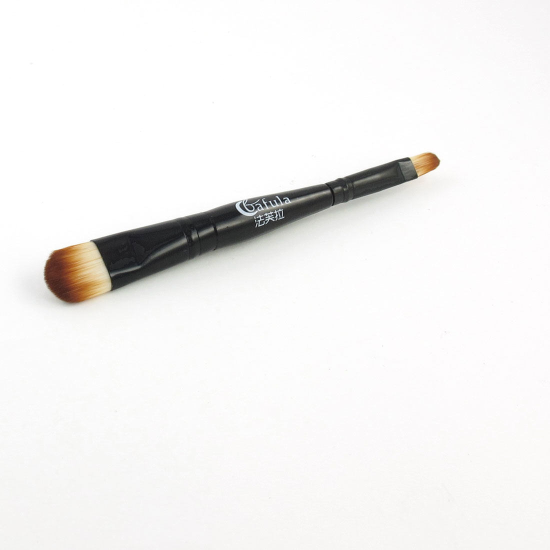 "5.5"" Length Double End Eyeshadow Makeup Brush Black for Ladies"