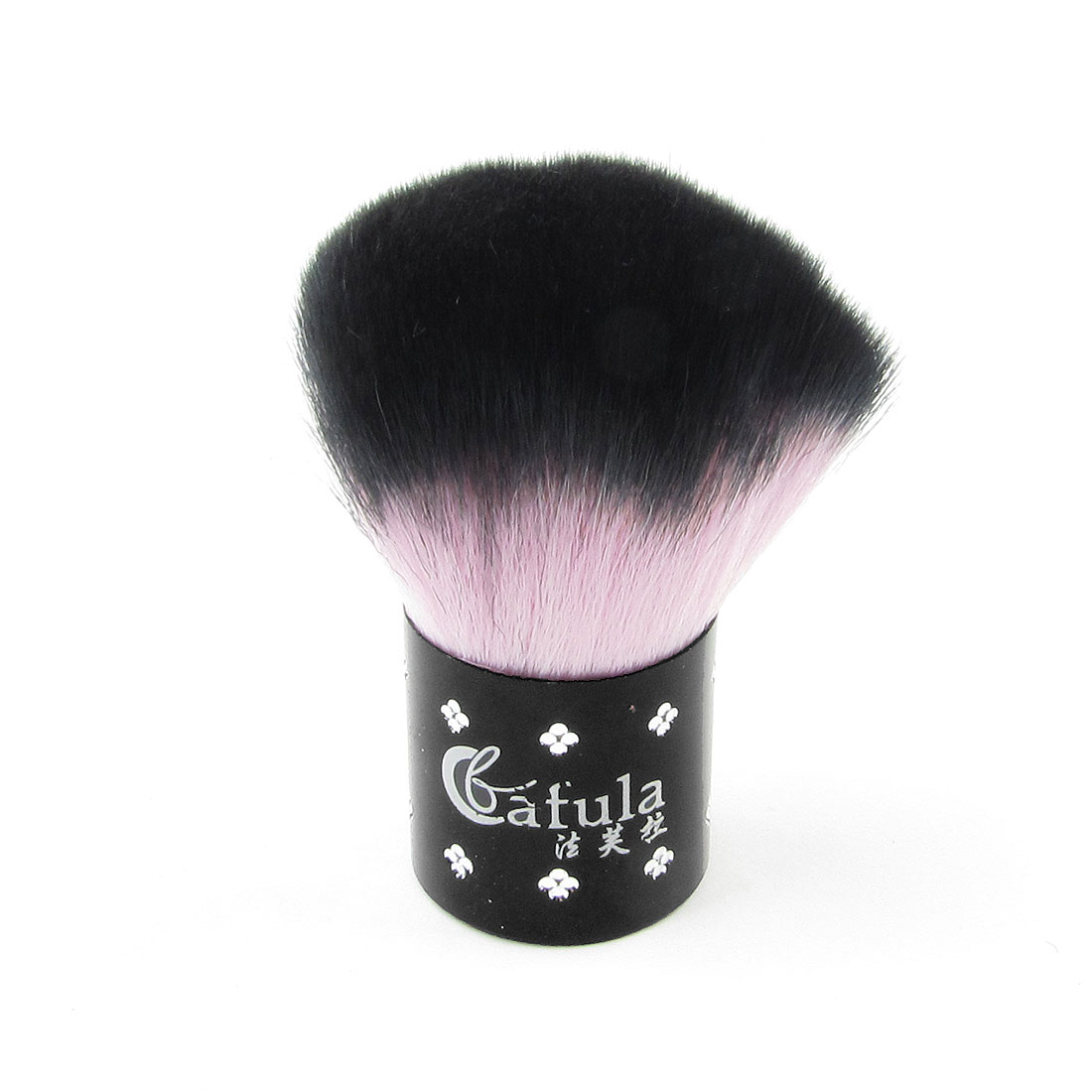 Woman Facial Cosmetic Tool Synthetic Bristle Powder Blush Brush Black Purple