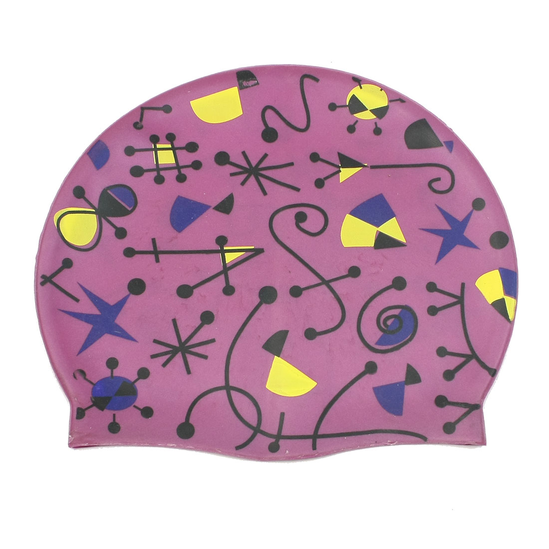 Adult Elastic Stretched Silicone Swimming Cap Purple
