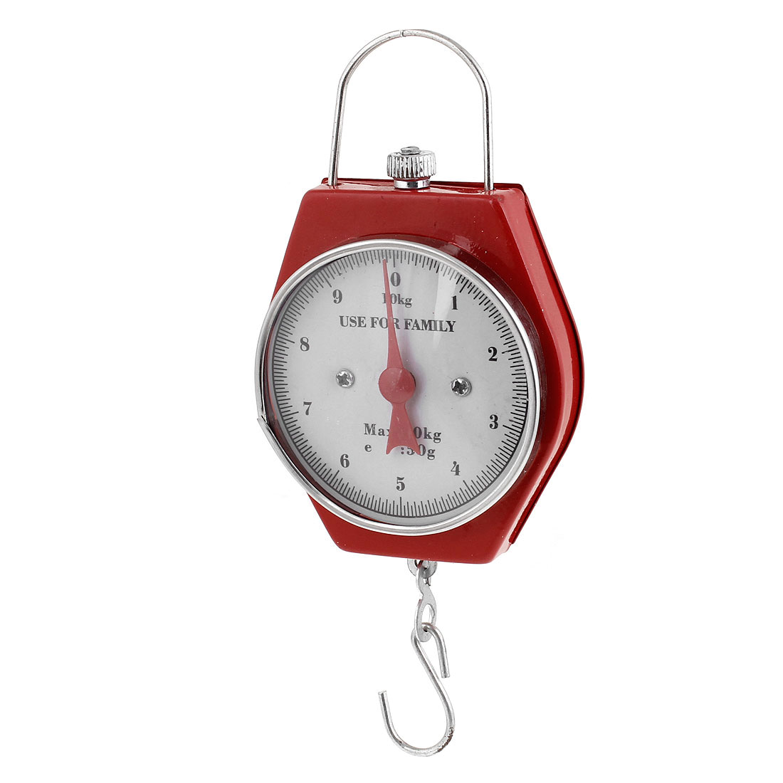Red Weight Measure Tool Portable Handheld Scale Spring Balance 10Kg