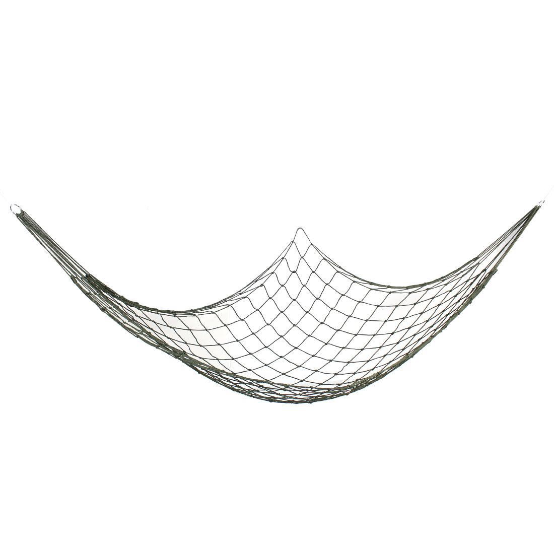 "Backyard Swing Mesh Sleeping Bed Hang Hammock Army Green 78.7"" Length"