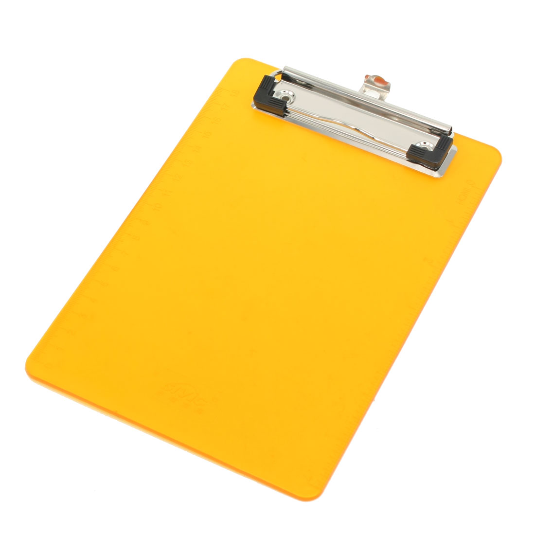 Office File Holding Orange Plastic Clip Board for A6 Paper