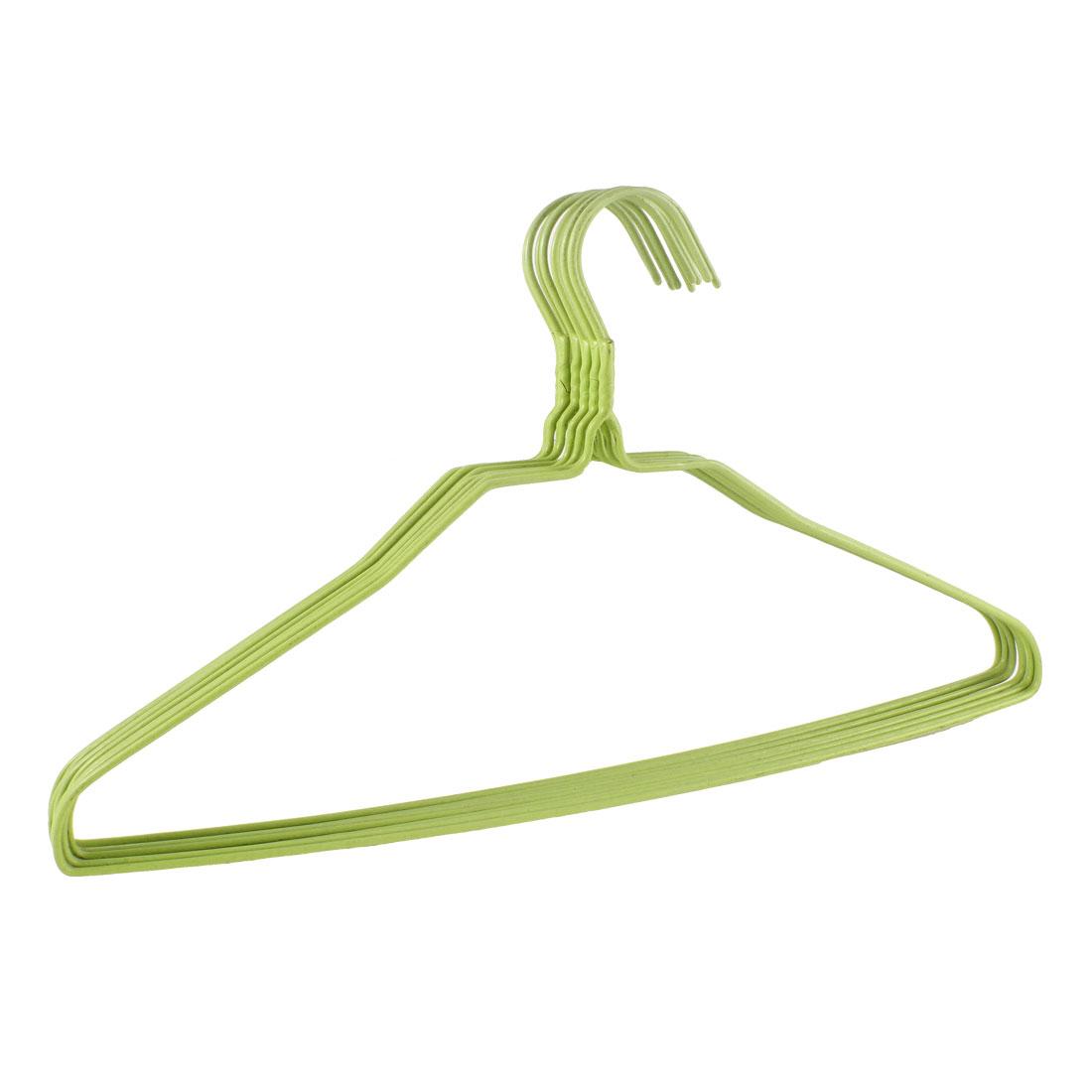10 Pcs Yellow Plastic Metal Wardrobe Garment Coat Clothes Hanger