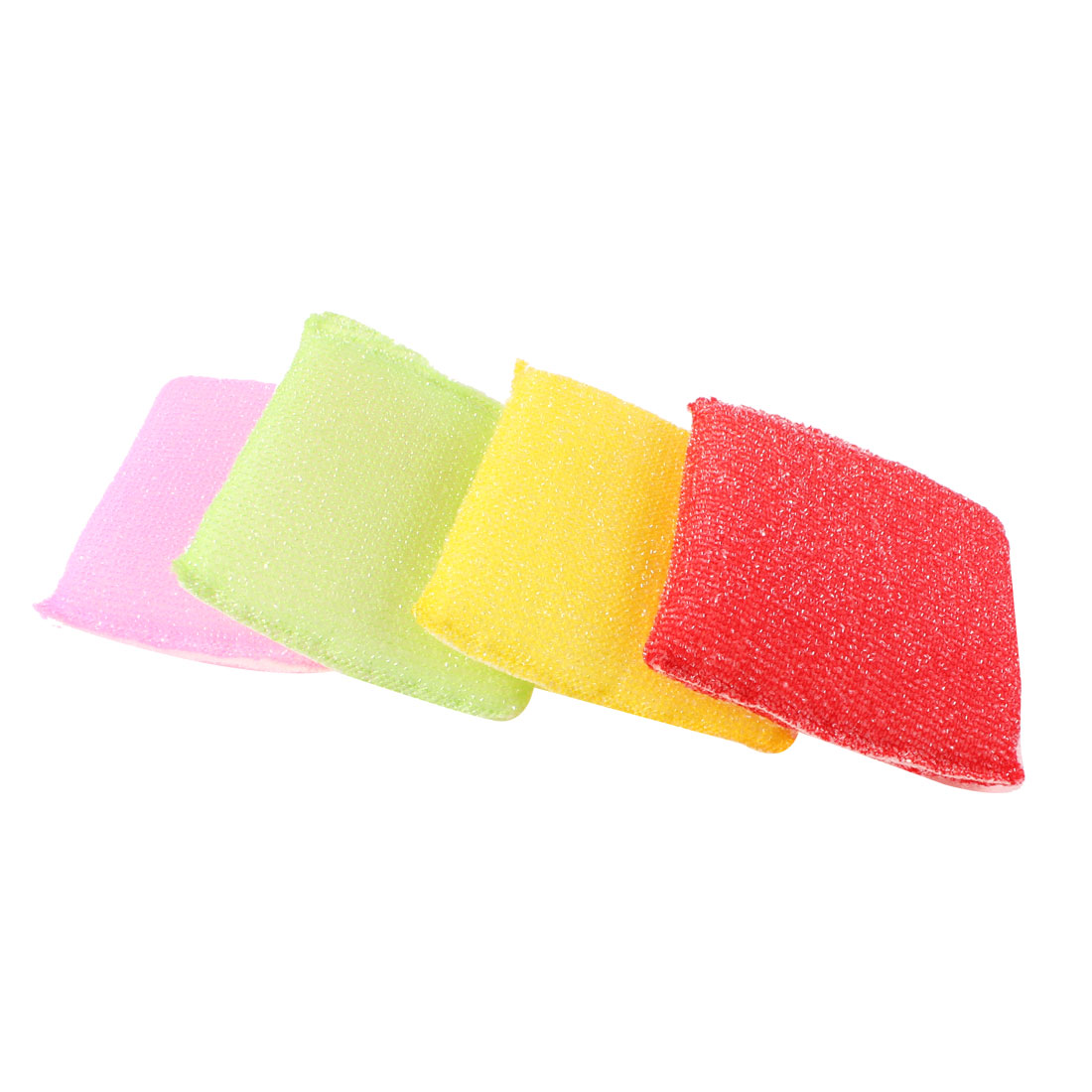 4 Pcs Four Colors Sponge Cleaning Water Absorbing Block for Kitchen