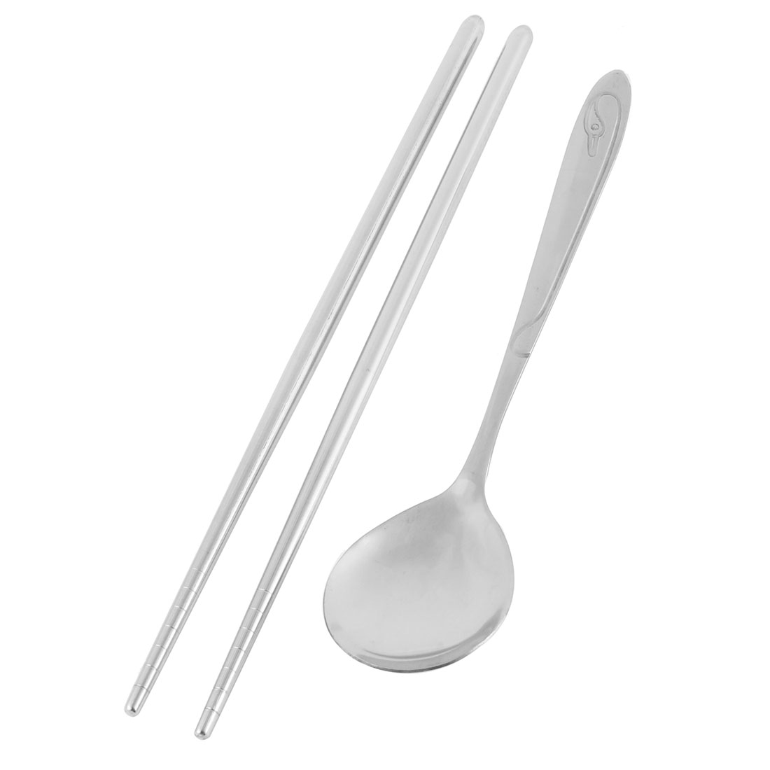 Household Dishware Set Nonslip Handle Stainless Steel Chopsticks Spoon