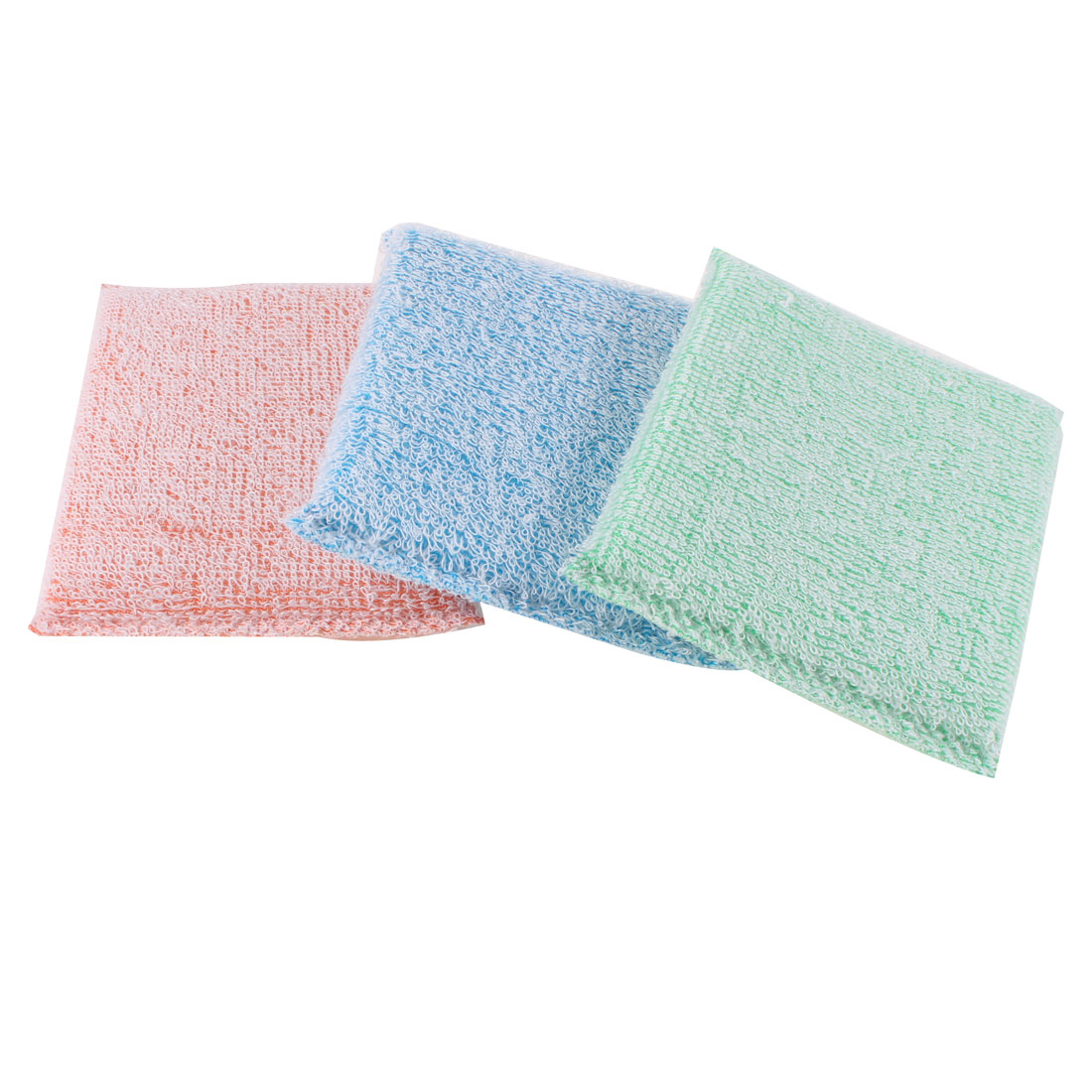 3 Pcs Three Colors Sponge Cleaning Water Absorbing Block for Kitchen