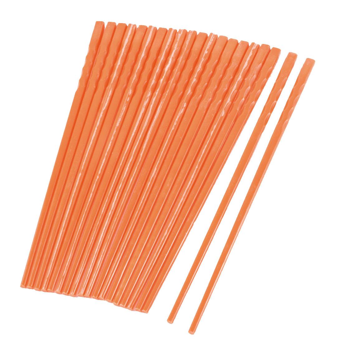 10 Pairs Home Tableware Orange Non-slip Plastic Chopsticks
