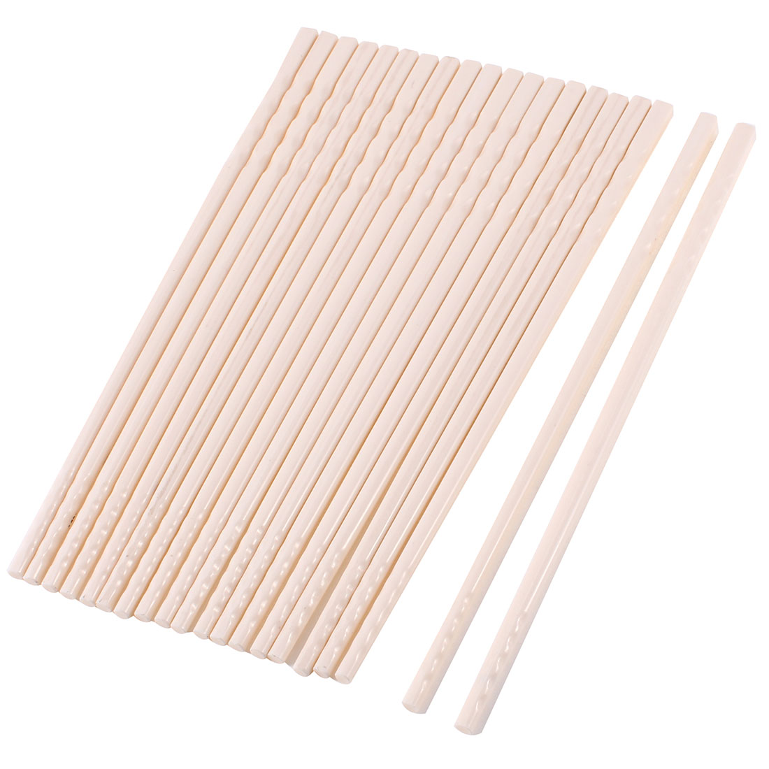 "10 Pairs White Plastic Anti-slip Chopsticks Dinnerware 8.9"" Length"