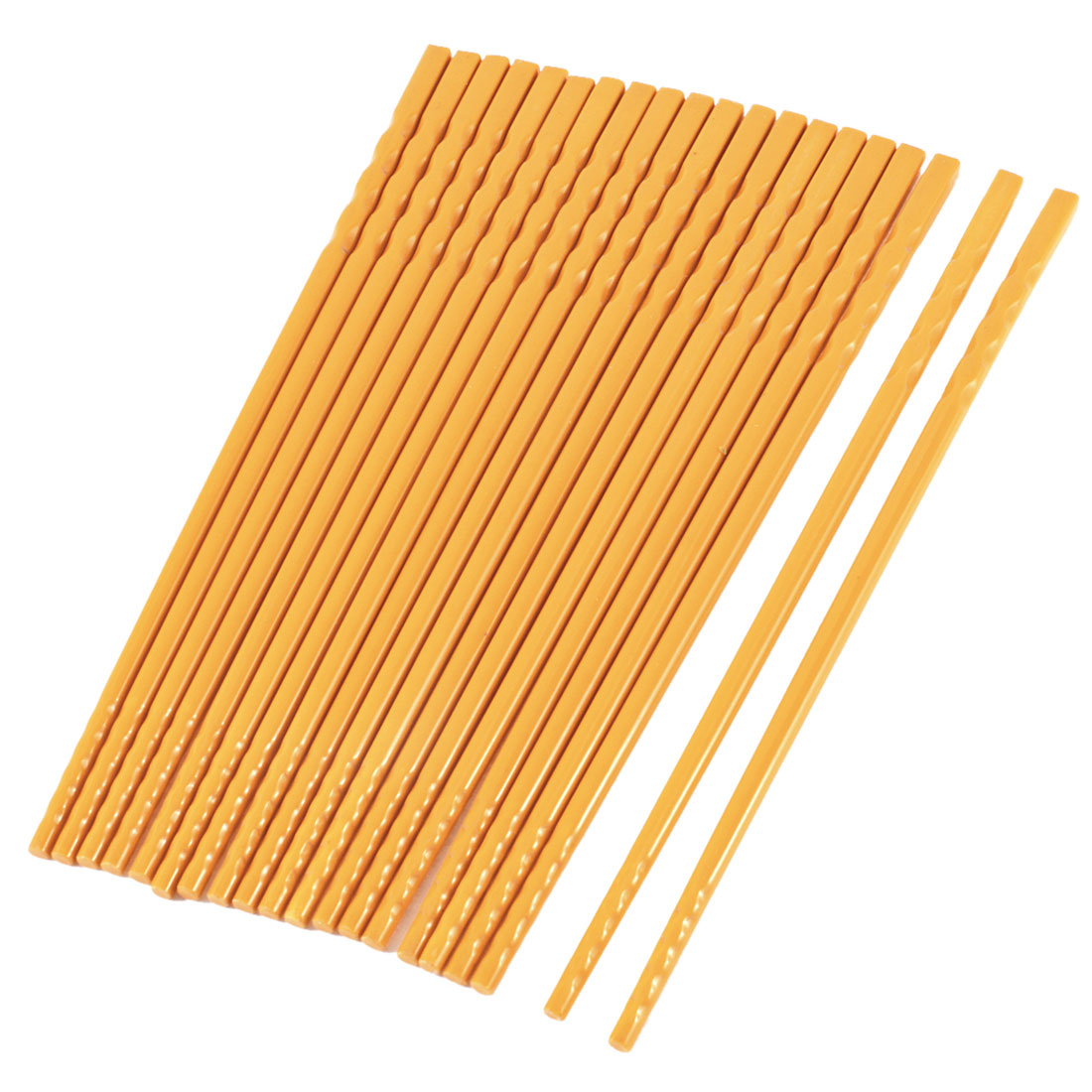 "10 Pairs Yellow Home Tableware Non-slip Plastic Chopsticks 8.9"" Long"