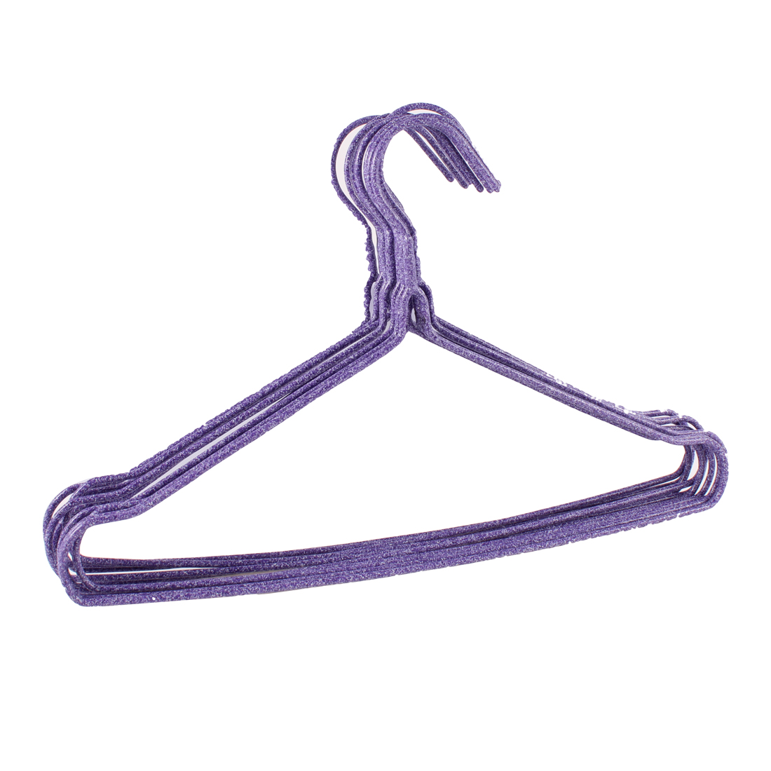 10 Pcs 11.4inches Purple Plastic Metal Clothes Hanger for Kids