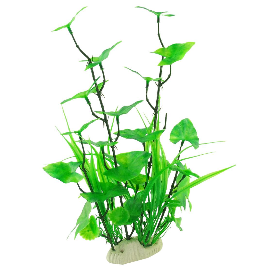 "13.8"" Aquarium Fish Tank Manmade Water Plant Grass Decor Green"