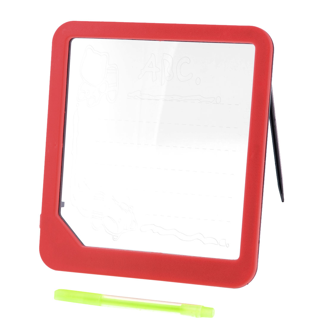 Children Illuminated Erasable LED Drawing Writing Board Red w Highlighter