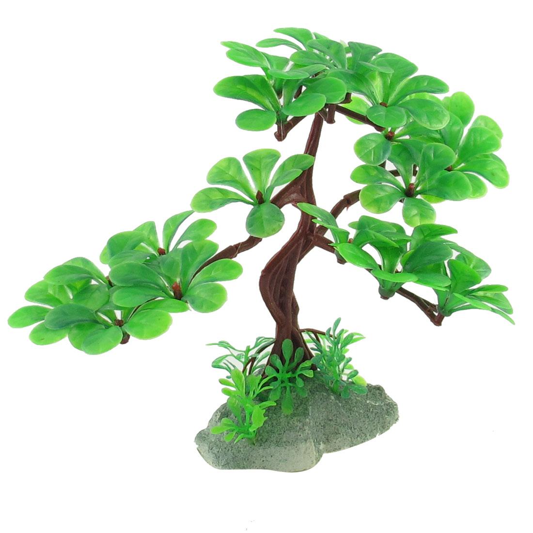 "6.1"" Height Emulational Green Aquarium Underwater Tree Plants for Fish Tank"