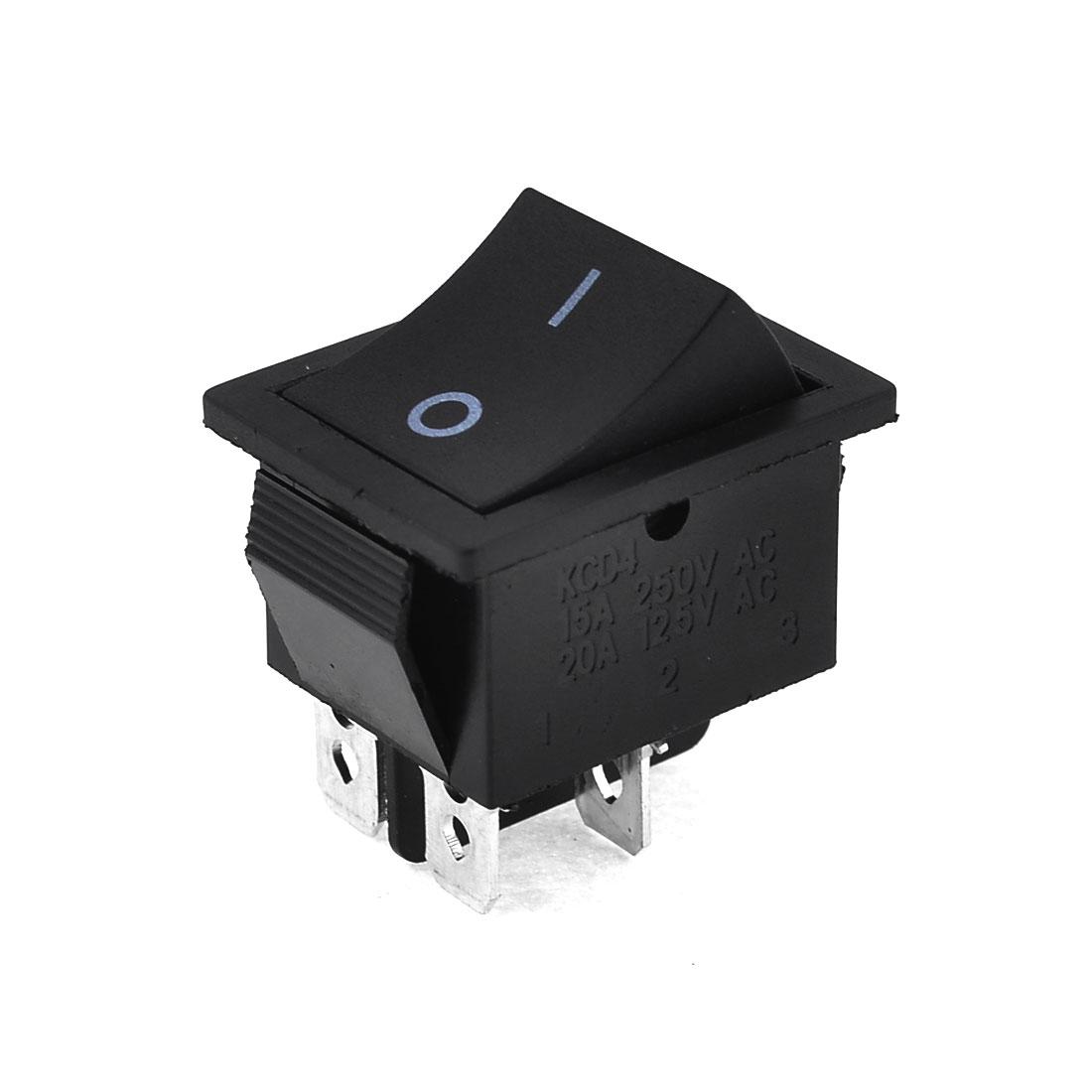 AC 15A/250V 20A/125V 4 Pin ON/OFF DPST Snap-in Boat Rocker Power Switch