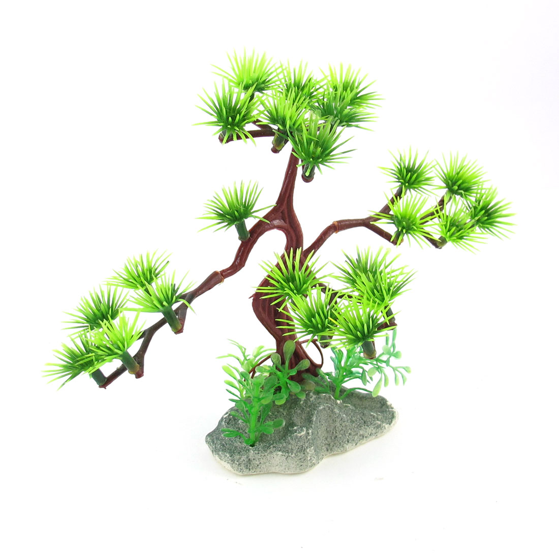 "5.9"" Height Emulational Green Aquarium Underwater Pine Tree Plants for Fish Tank"
