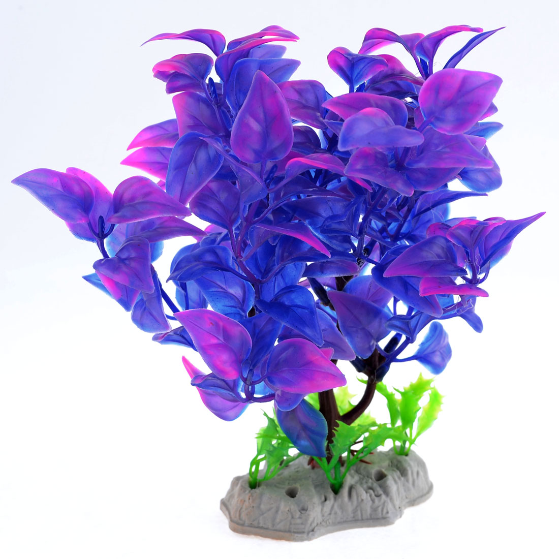 "7.5"" Height Manmade Blue Purple Plant Grass for Fish Tank Aquarium"
