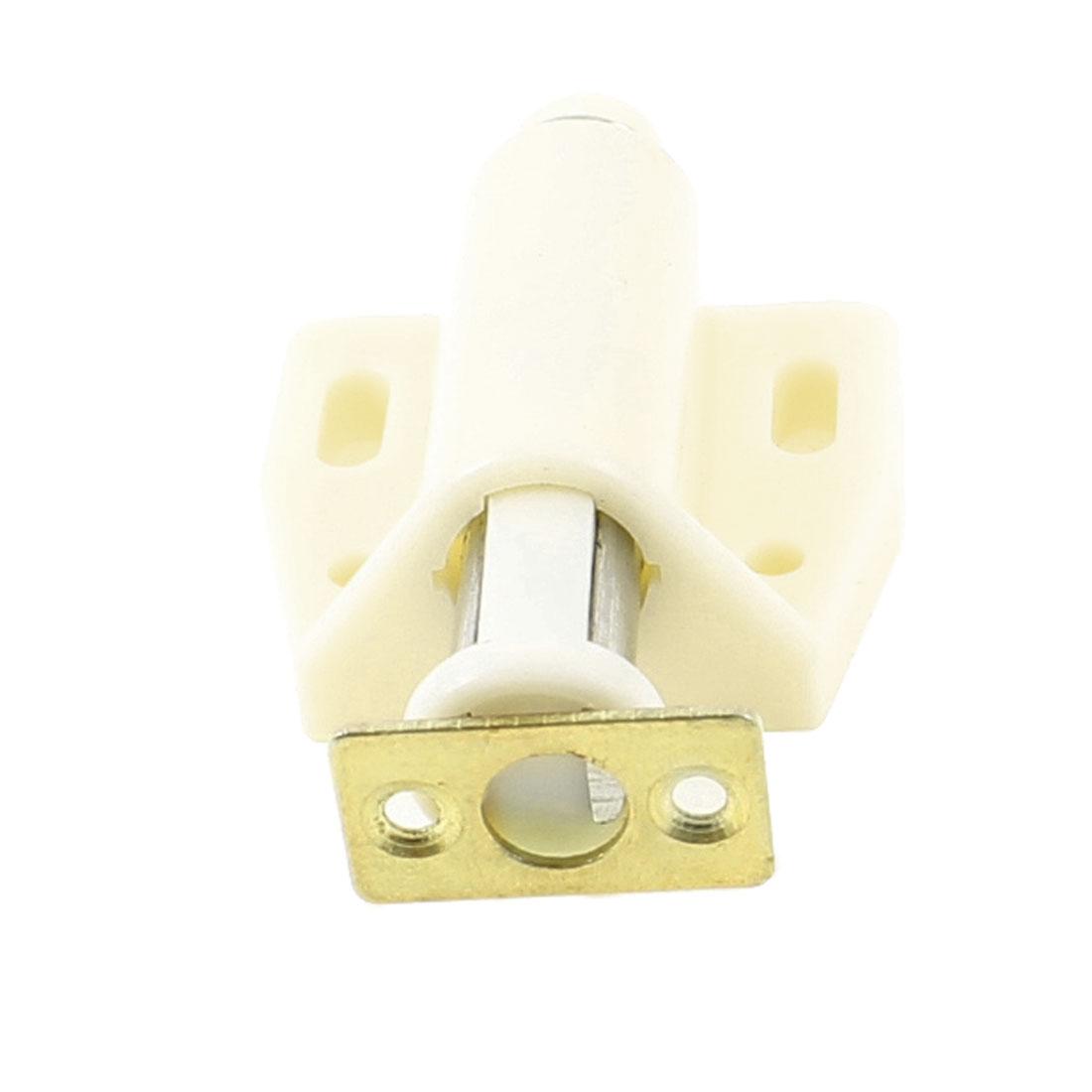3.8cm Width Single Touch Press Door Magnetic Catch Latch Beige