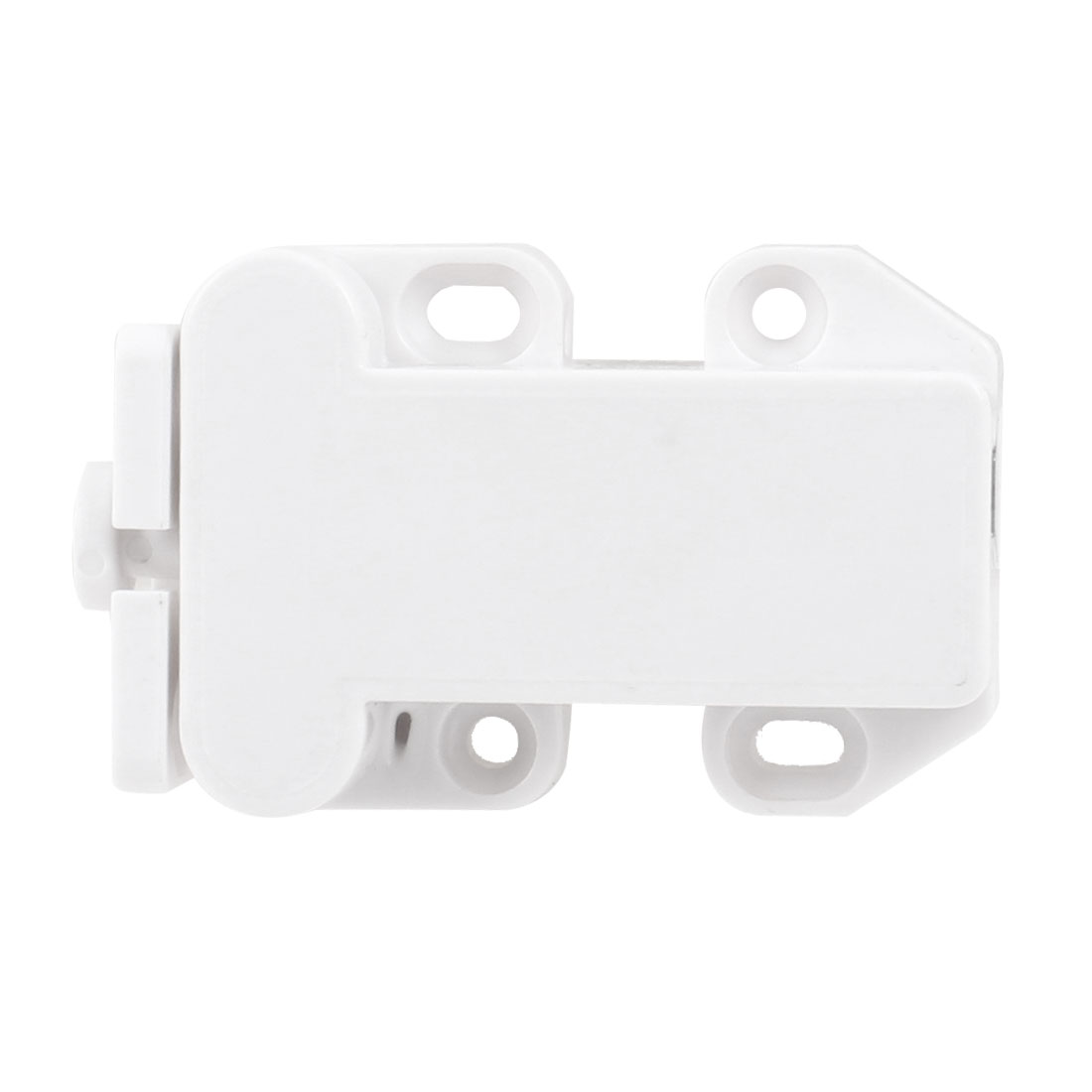 6.5cm x 4.2cm x 1.6cm White Plastic Bin Push Open Door Catch Latch