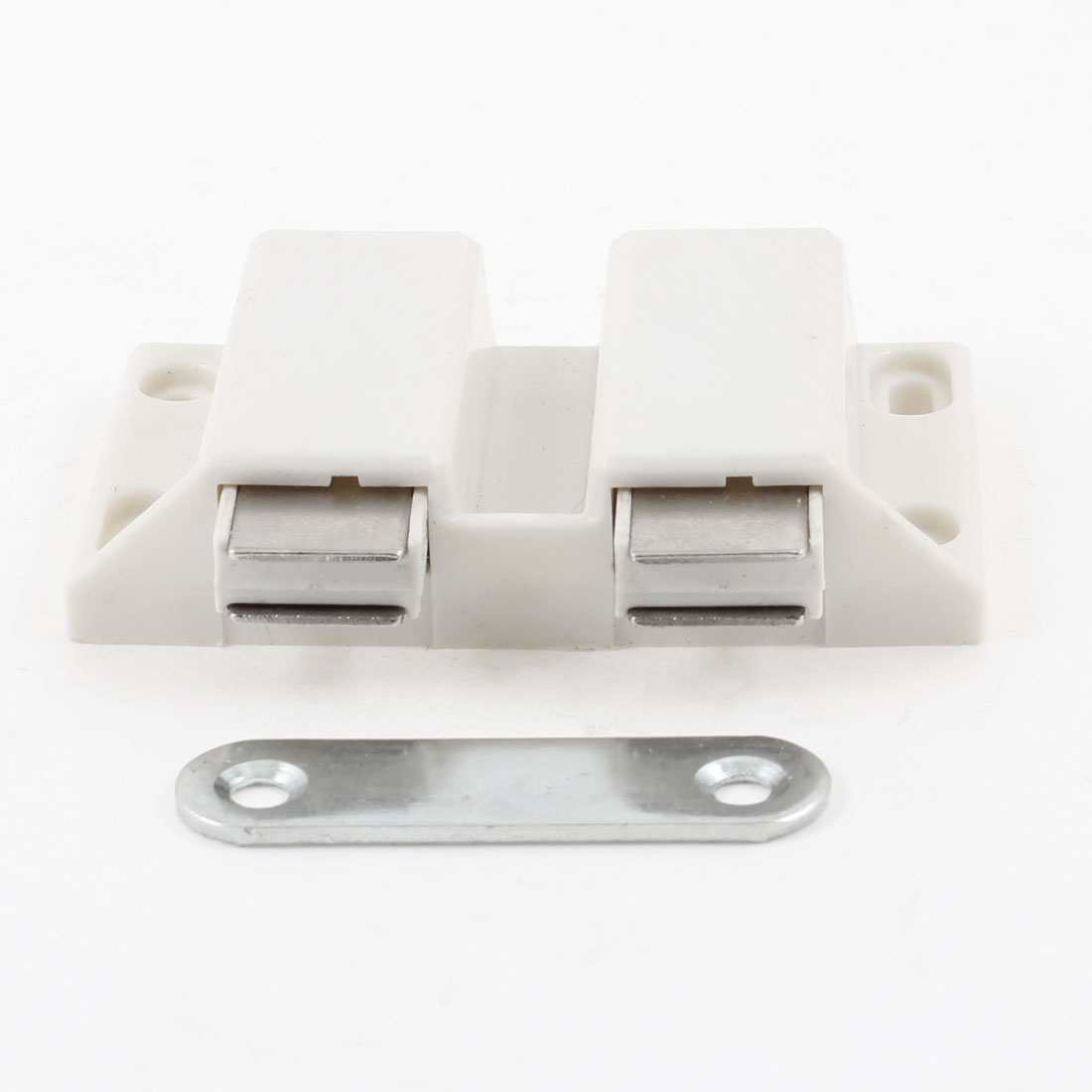 6.6cm Width Double Touch Press Door Magnetic Catch Latch White