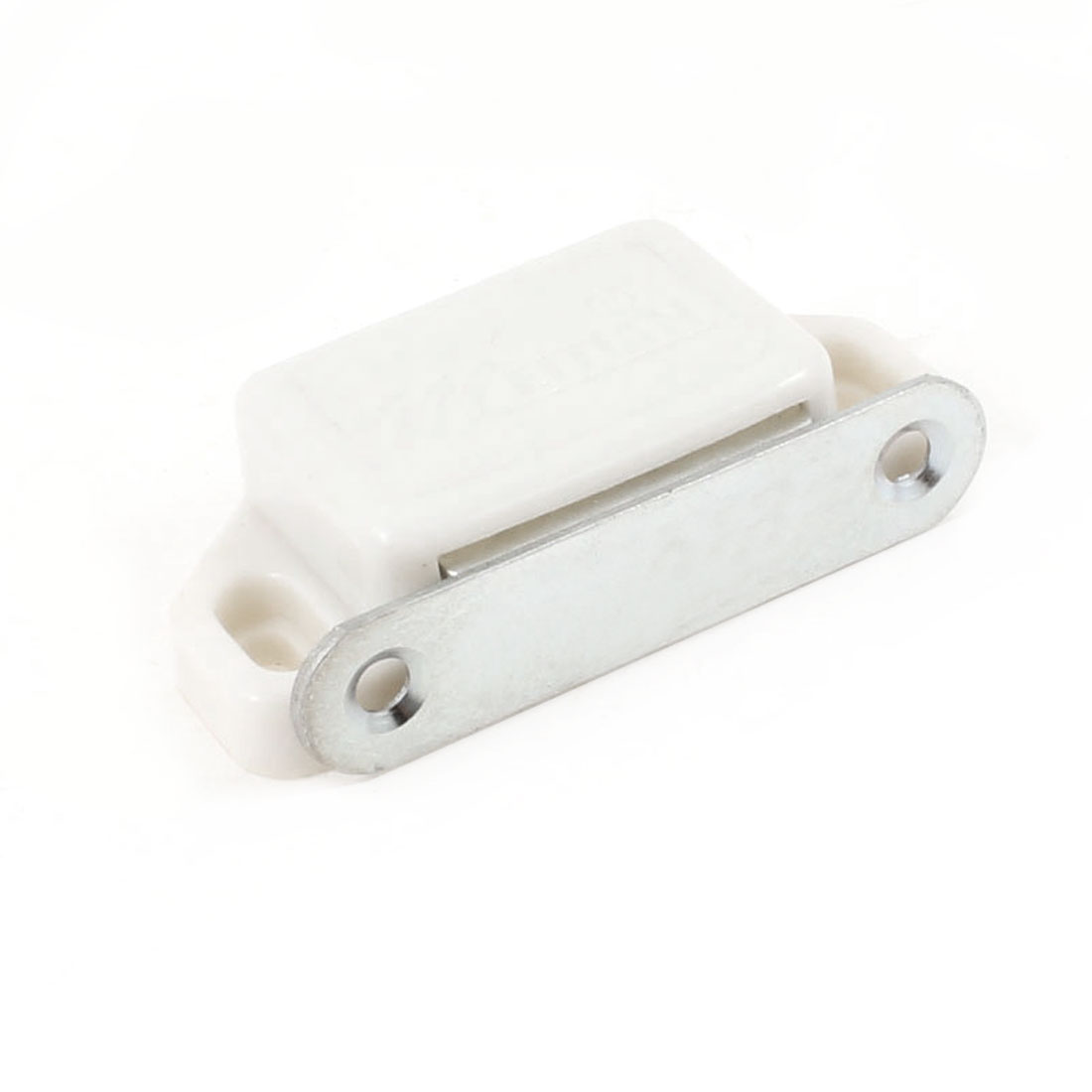 58mm x 28mm x 14mm Plastic Housing Magnetic Catch Latch White