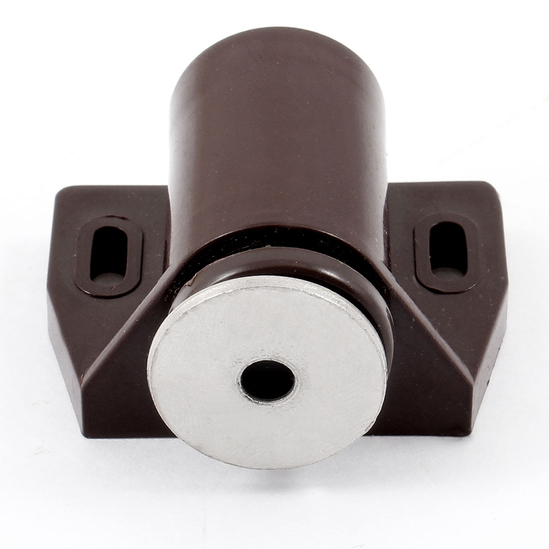 Brown Plastic Metal Single Magnetic Head Door Catch Latch 4.2cm Width