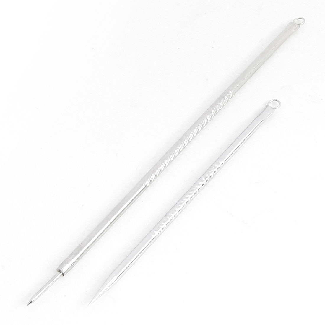 Pair Cosmetic Makeup Tool Metal Pimple Blackhead Remover Acne Needles