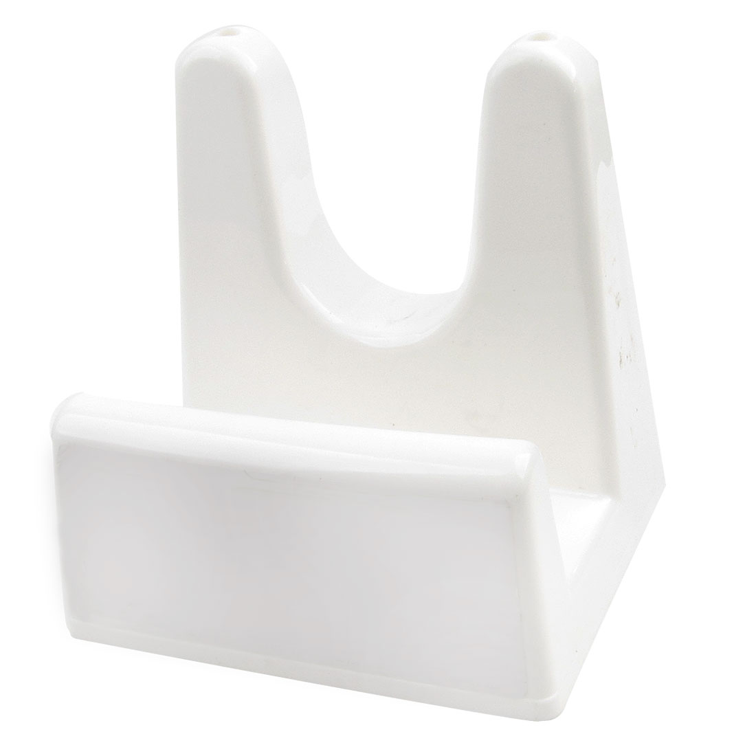 White Plastic Hill Shape Pot Cover Holder Pan Lid Stand Rack Organizer