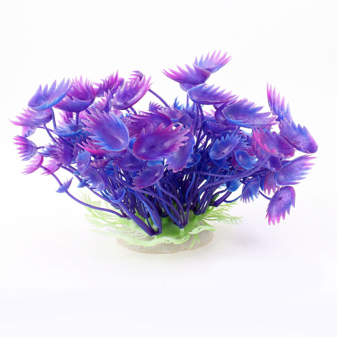 "Fish Tank Decorative Emulational Water Plant 4.3"" Height Indigo Blue Purple"