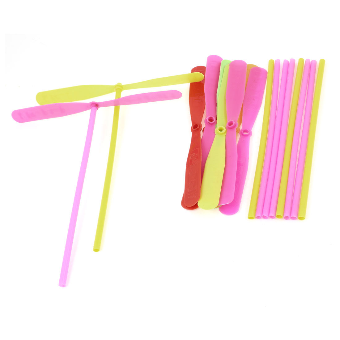 Kids Assorted Color Plastic Flying Dragonfly Propeller Hand Toy 10 Pcs