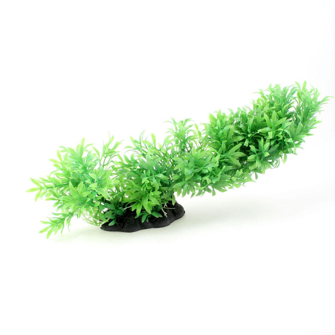 "7.5"" Height Fish Tank Decor Plastic Underwater Grass Plants Green"