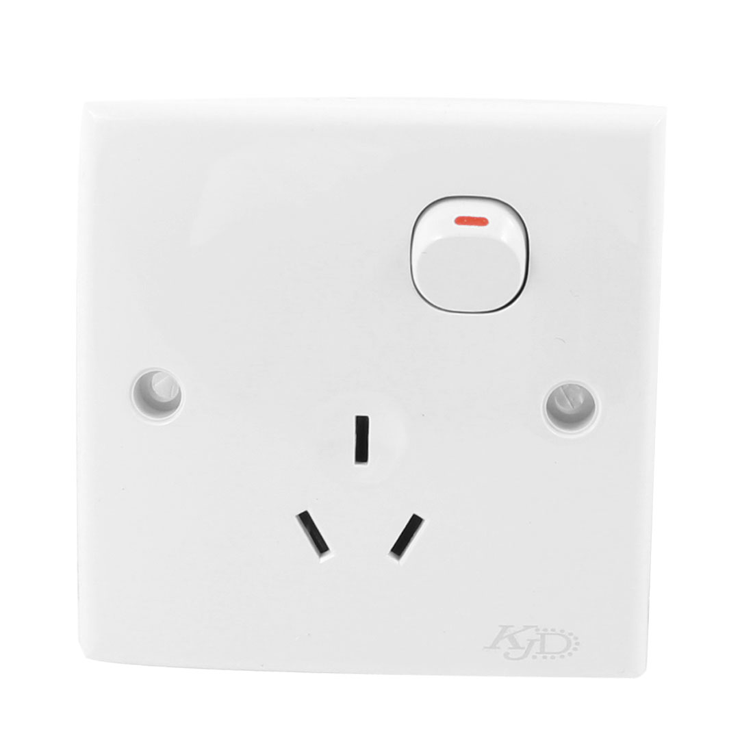 Household Plactis Case 3 Pin AU 1 Gang Button Wall Plate Socket 250VAC 10A