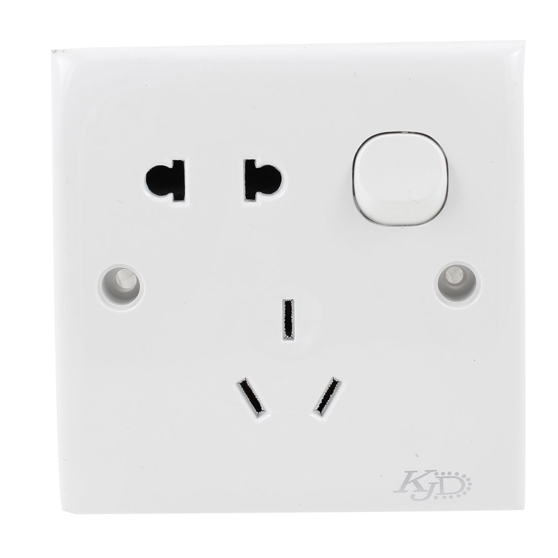 Home AC 250V 10A 2 Pin US EU 3 Pin AU Socket Wall Switch Plate Panel Switch White