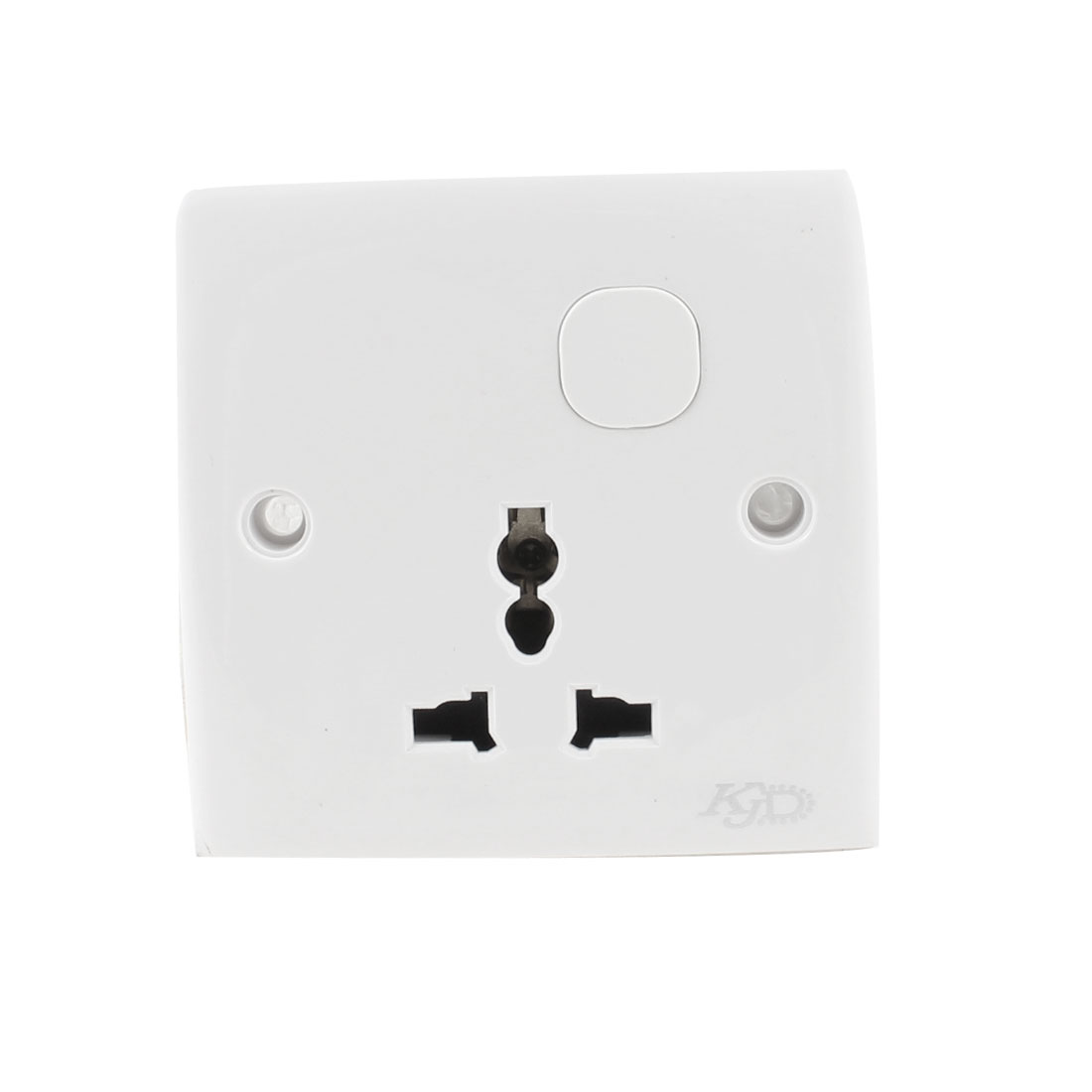 White Plastic Square Panel 3 Pin AU EU UK Wall Outlet Plate AC 250V 13A
