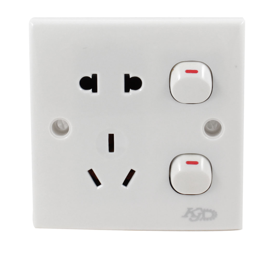 Plastic Shell 2 Pin US EU 3 Pin AU Socket Wall Outlet Plate Panel Switch 250VAC 10A