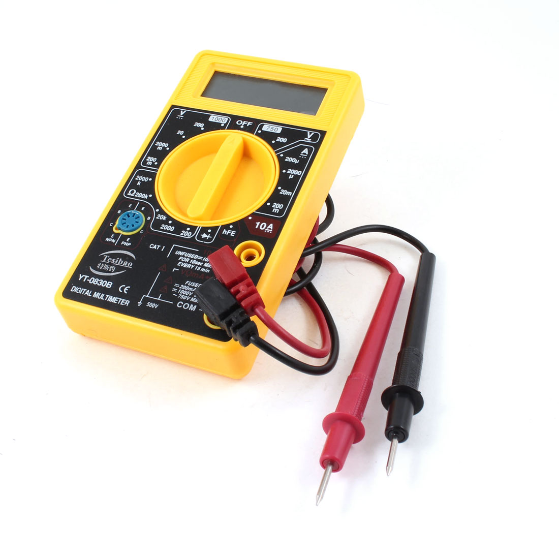LCD Display DC Voltage Current Measuring Ammeter Ohm Digital Multimeter