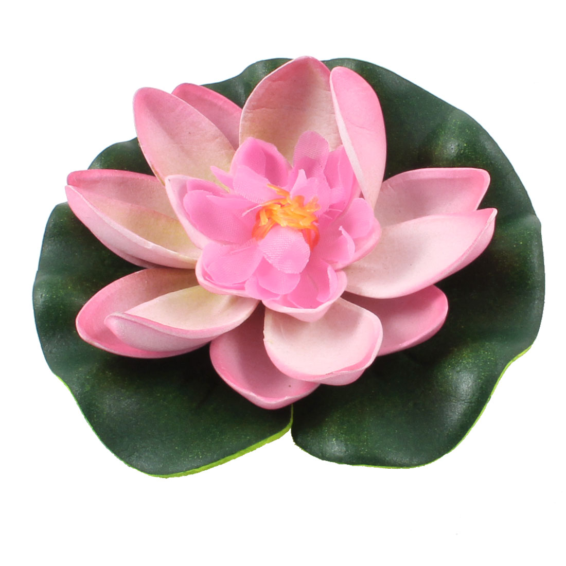 "Fish Tank Pale Pink Green 3.7"" Dia Foam Lotus Floral Floating Plant Decor"
