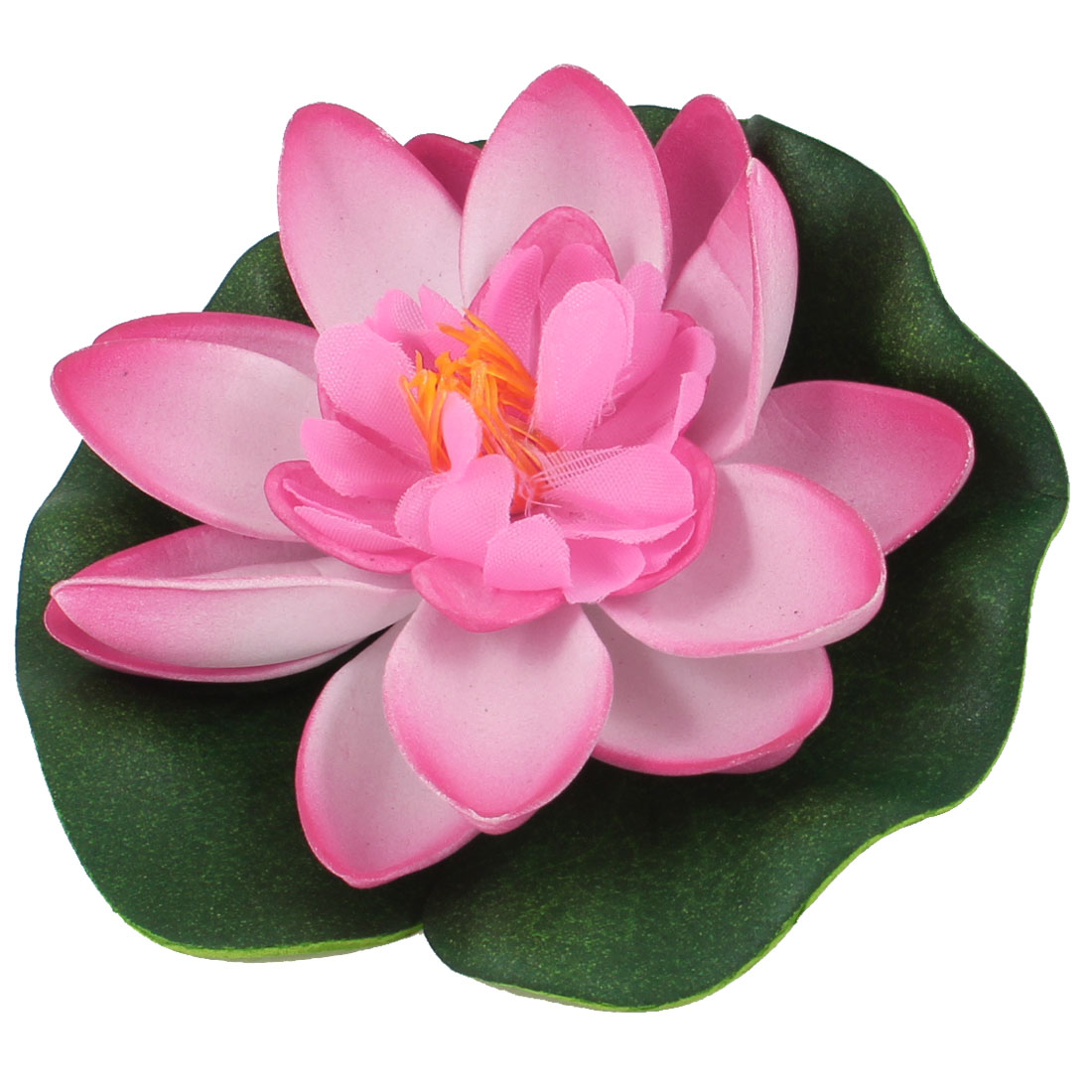 Aquarium Aquascaping Hot Pink Green Floating Foam Leaf Lotus Plant Decor