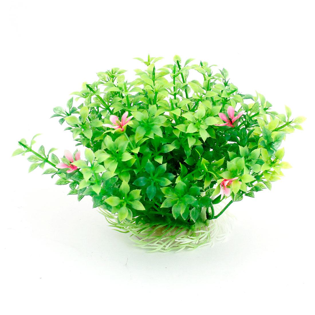 "4.1"" Height Green Artificial Manmade Aquarium Decoration Grass Plant"