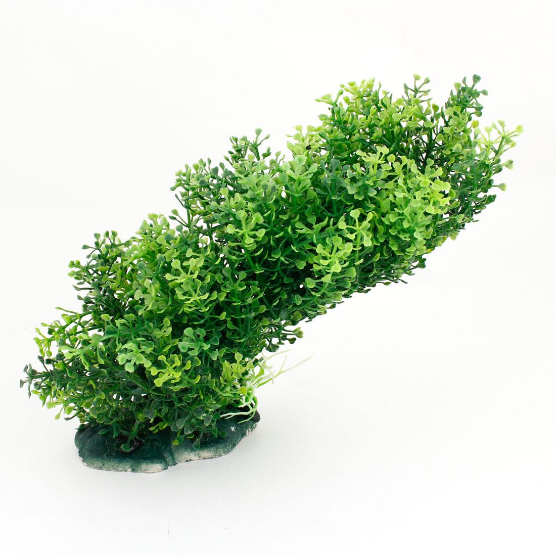 "7.1"" High Green Artificial Manmade Aquarium Decoration Grass Plants"
